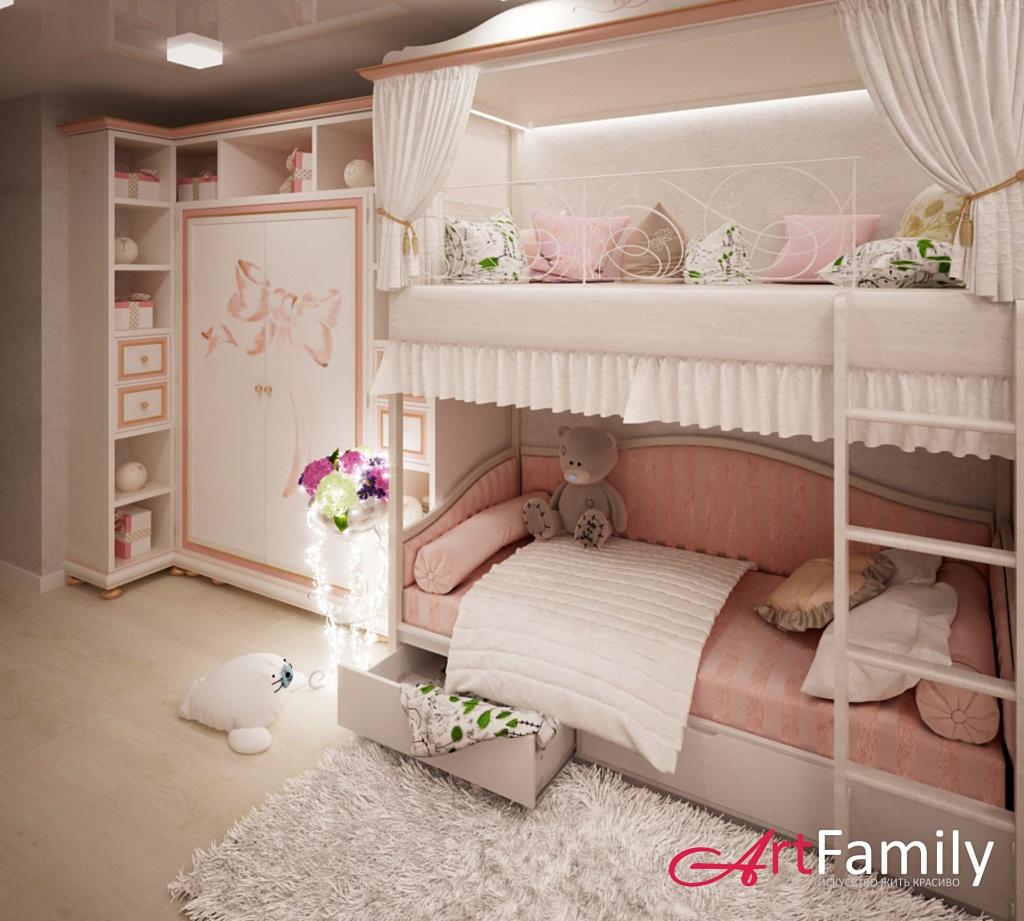 Дизайн детской для двух детей